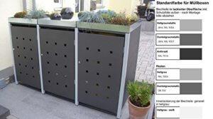 Mülltonnenbox mit Pflanzdach