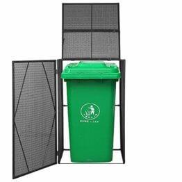 Mülltonnenbox Rattan