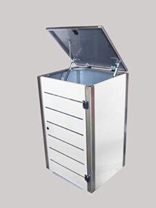 Mülltonnenbox weiß